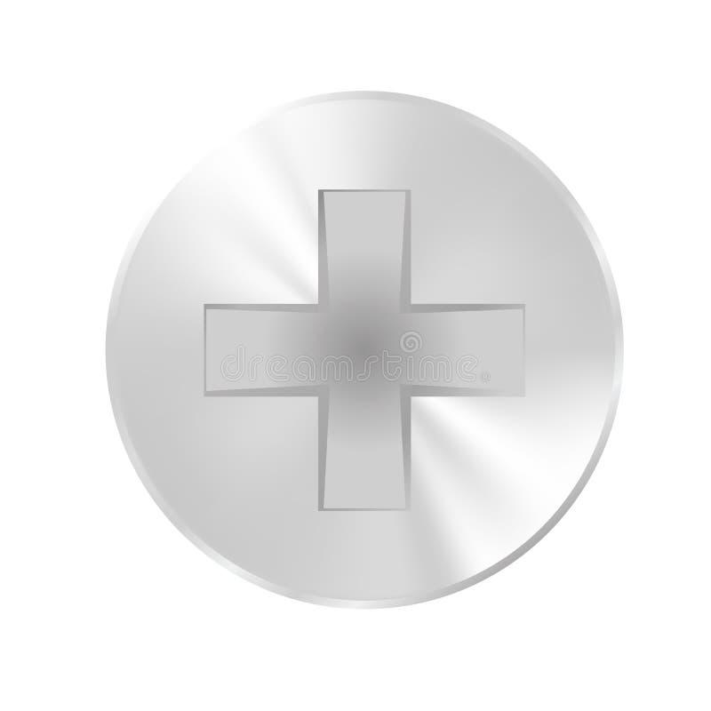 Болты крышки плоские, лоснистая поверхность стоковое изображение rf