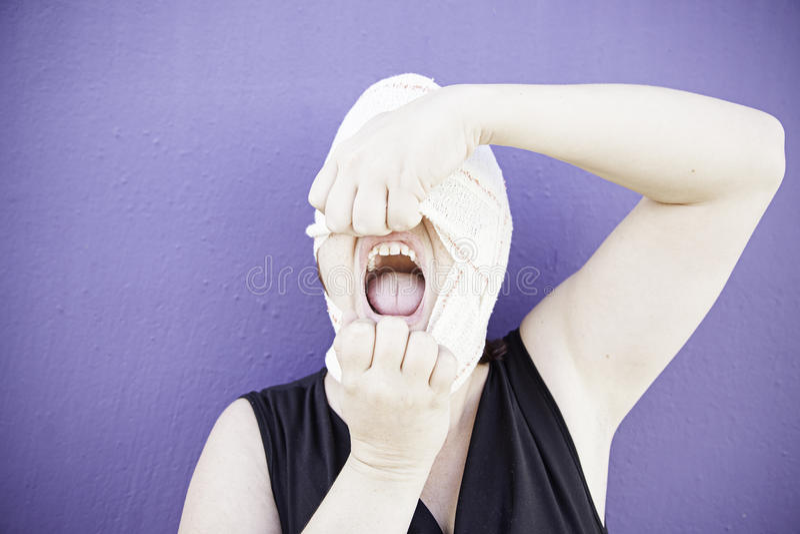 Больная женщина hysterical стоковое фото rf