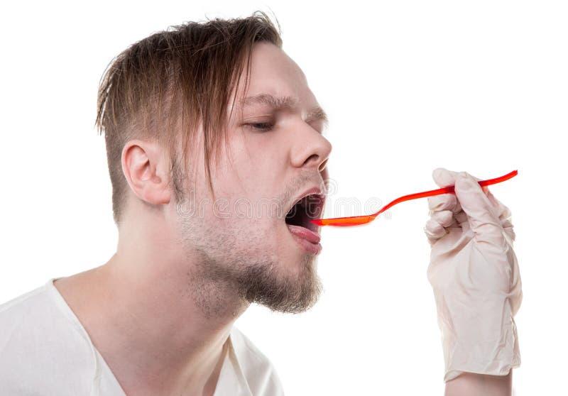 Больная терпеливая смесь еды стоковое изображение rf