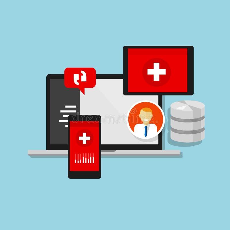 Больница информационной системы медицинской истории здоровья иллюстрация вектора