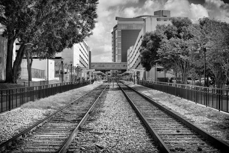 Больница Флориды железнодорожных путей стоковая фотография rf