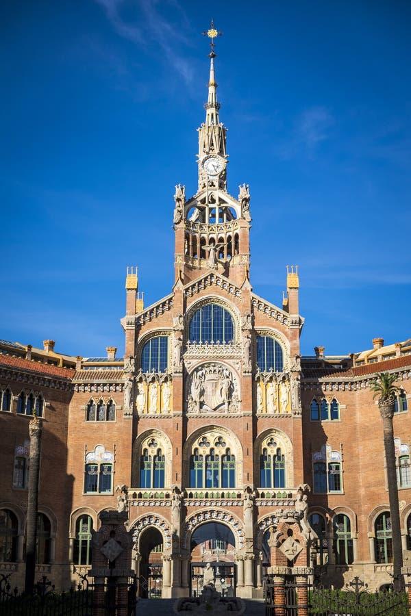 Больница Sant Пола архитектура модернизма в Барселоне Catalon стоковые изображения rf