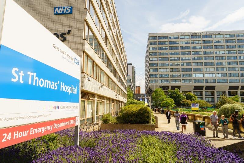 Больница St. Thomas в Лондоне стоковые фотографии rf