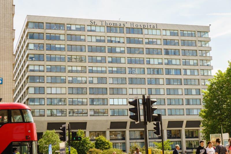 Больница St. Thomas в Лондоне стоковое фото