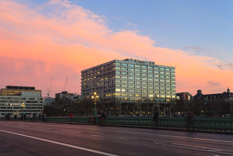 Больница St. Thomas в Lambeth, южном Лондоне стоковое изображение