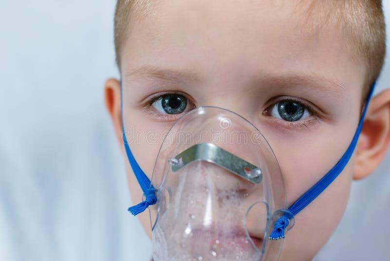 Больной мальчик стоковое фото rf