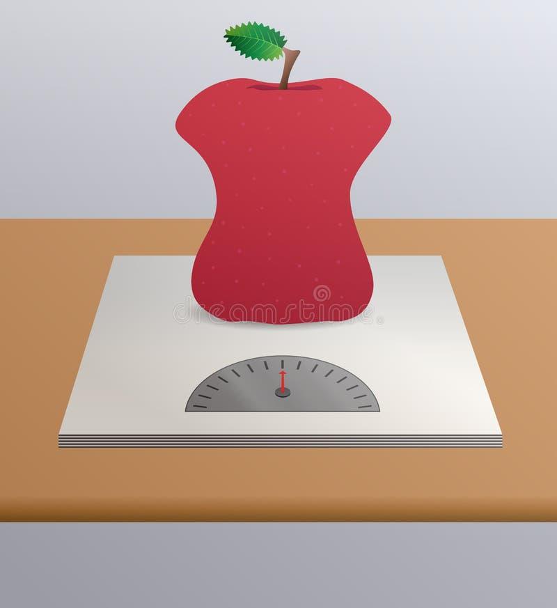Download больн анорексией яблоко иллюстрация вектора. иллюстрации насчитывающей еда - 40586971