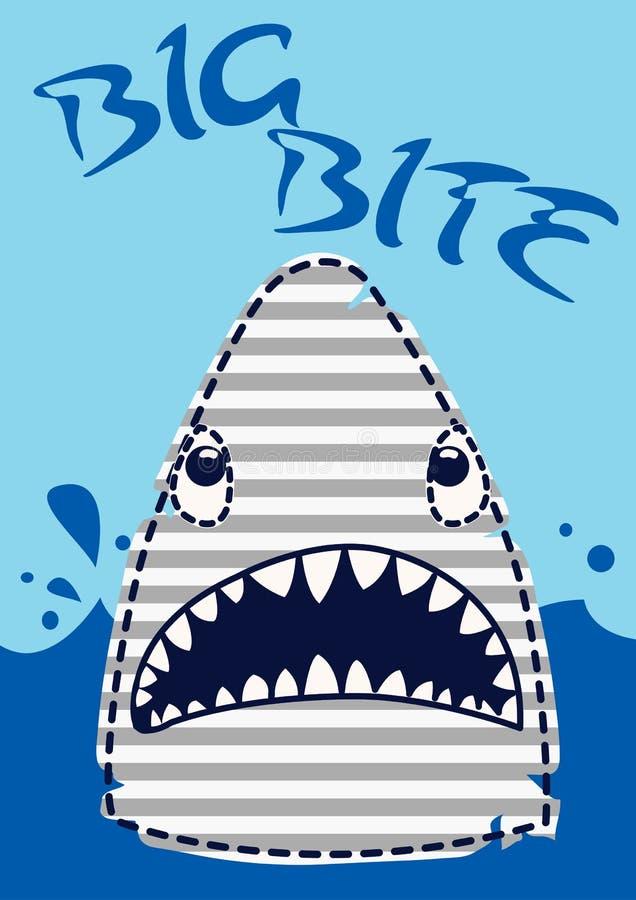 Большая акула укуса. бесплатная иллюстрация