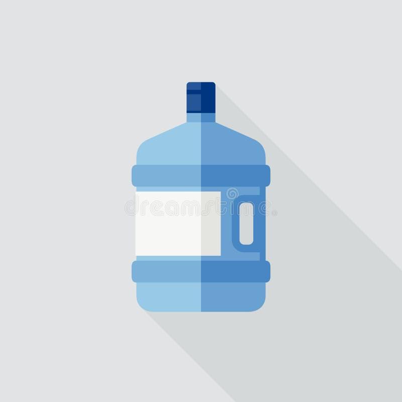 Большая бутылка с водой иллюстрация вектора
