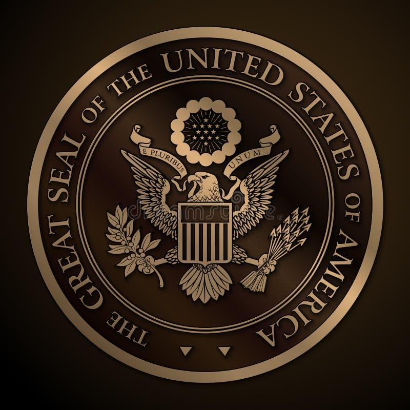 Большая государственная печать золота США бесплатная иллюстрация
