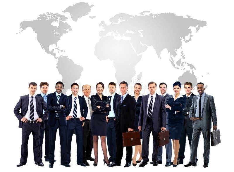 Большая группа в составе бизнесмены. стоковое изображение