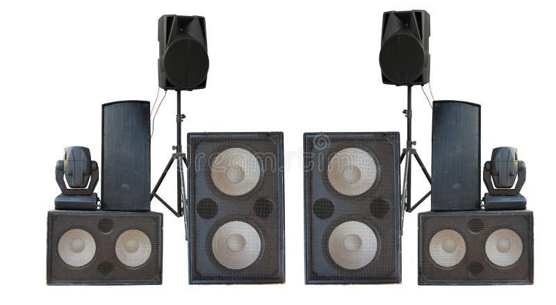 Большая группа в составе старое промышленное мощное isolat дикторов звука этапа стоковая фотография rf