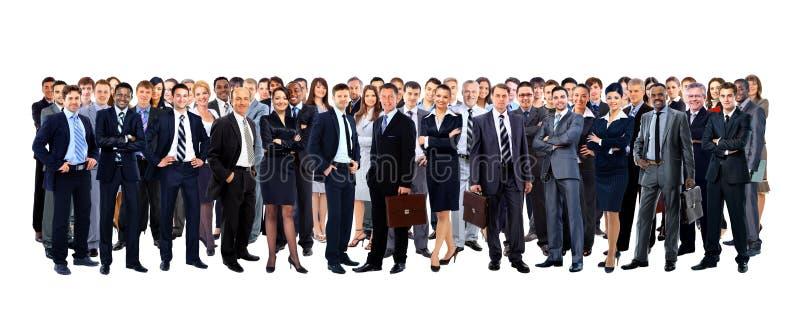 Большая группа людей полнометражная стоковое фото
