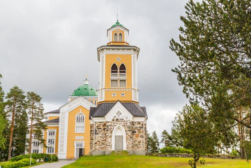 Большая деревянная церковь стоковые фото