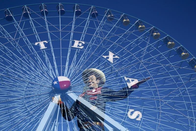 Большая звезда Tex и Техаса стоковое изображение rf