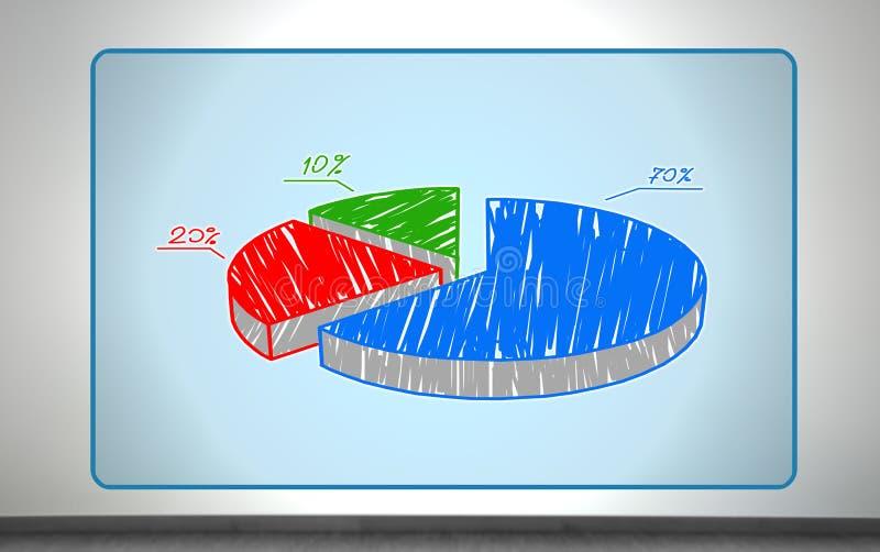 Большая диаграмма пирога иллюстрация штока