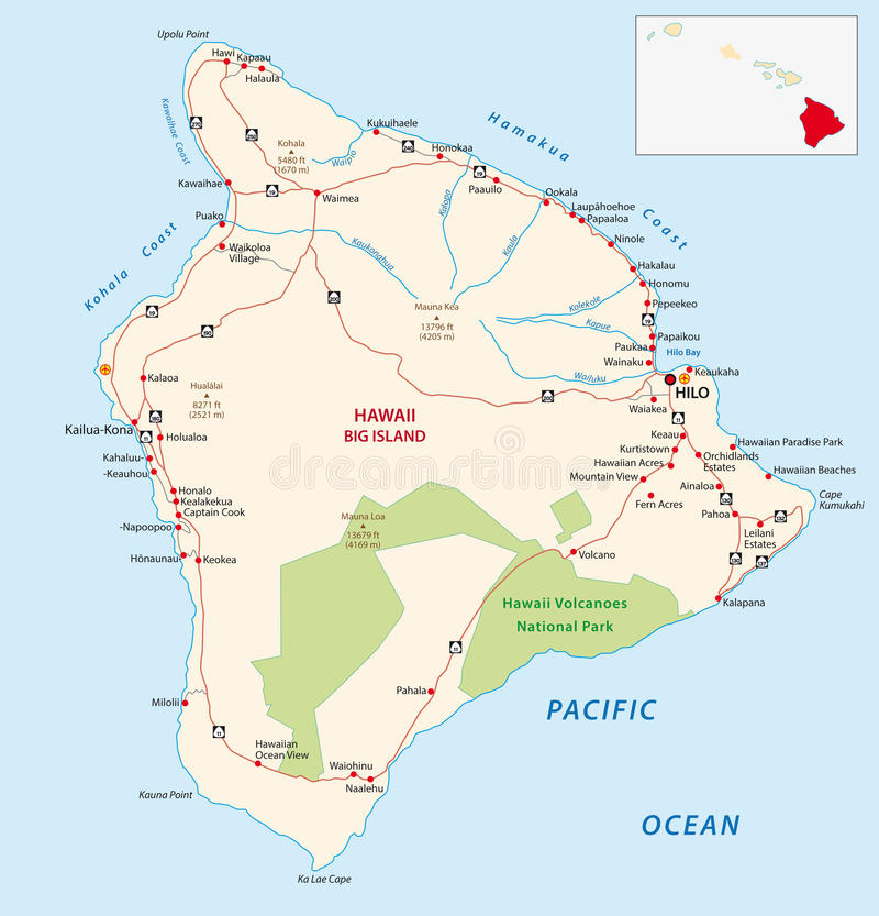 Большая карта острова бесплатная иллюстрация