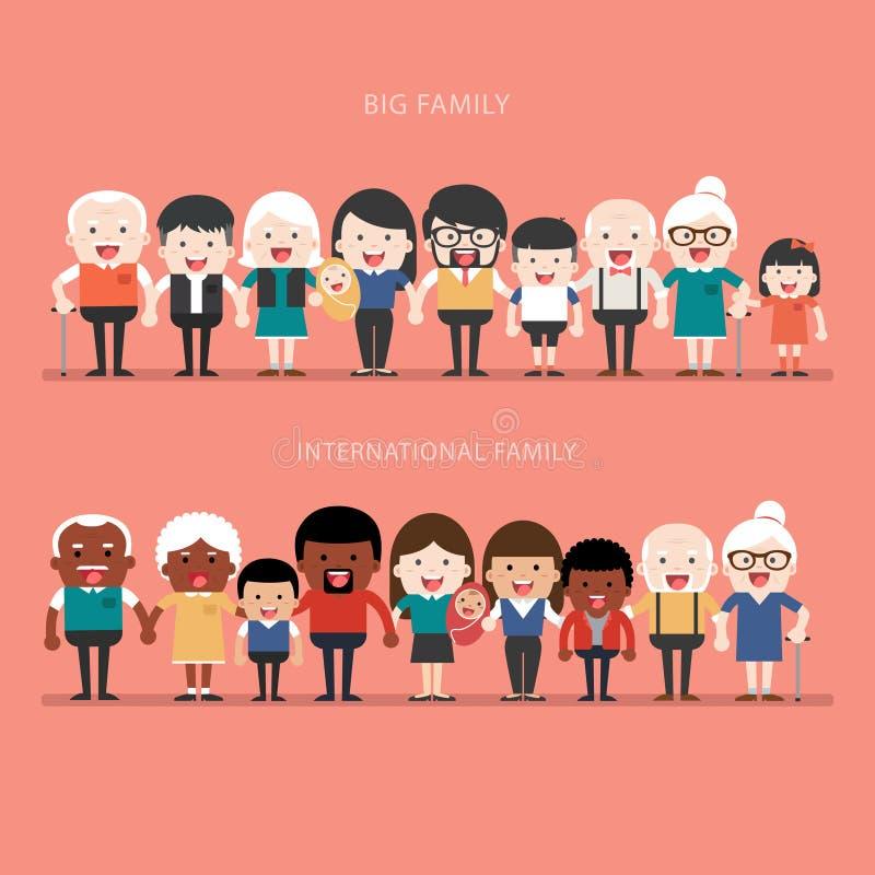 Большая концепция семьи иллюстрация штока