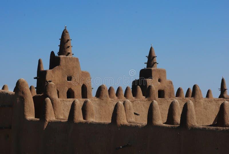 Мечеть Djenne грандиозная, Мали, Африка стоковые фотографии rf