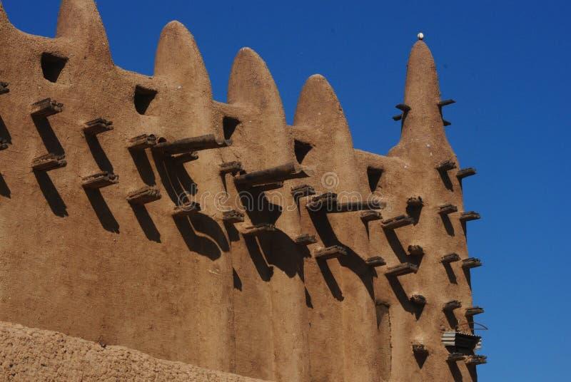 Деталь мечети Djenne грандиозная, Мали, Африка стоковое изображение rf