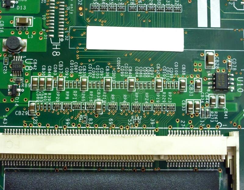 Большая монтажная плата радиотехнической схемы с компонентами радио стоковые изображения