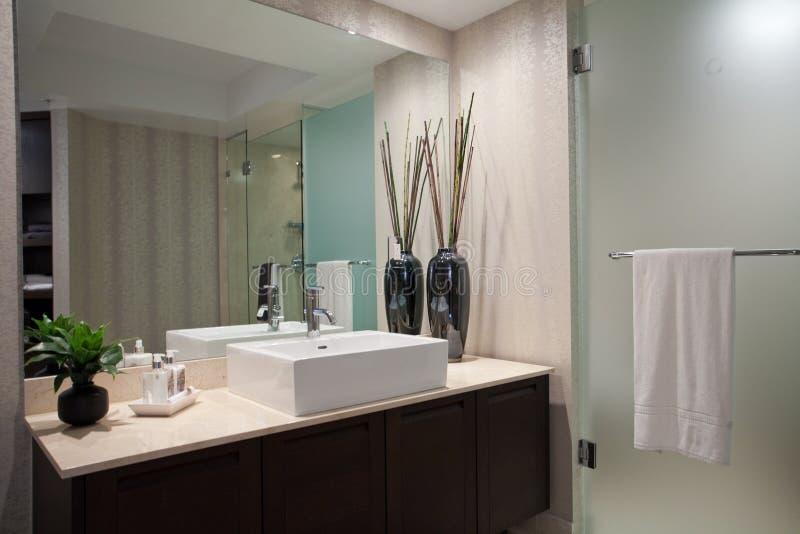 Большая открытая ванная комната стоковые изображения