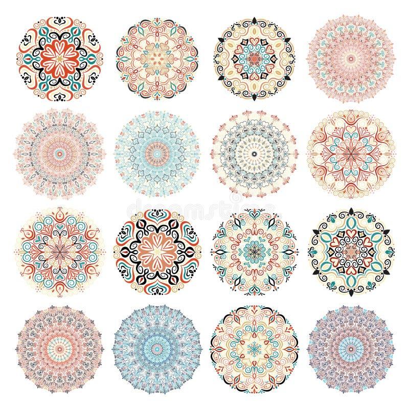 Большая пачка круглых орнаментов бесплатная иллюстрация