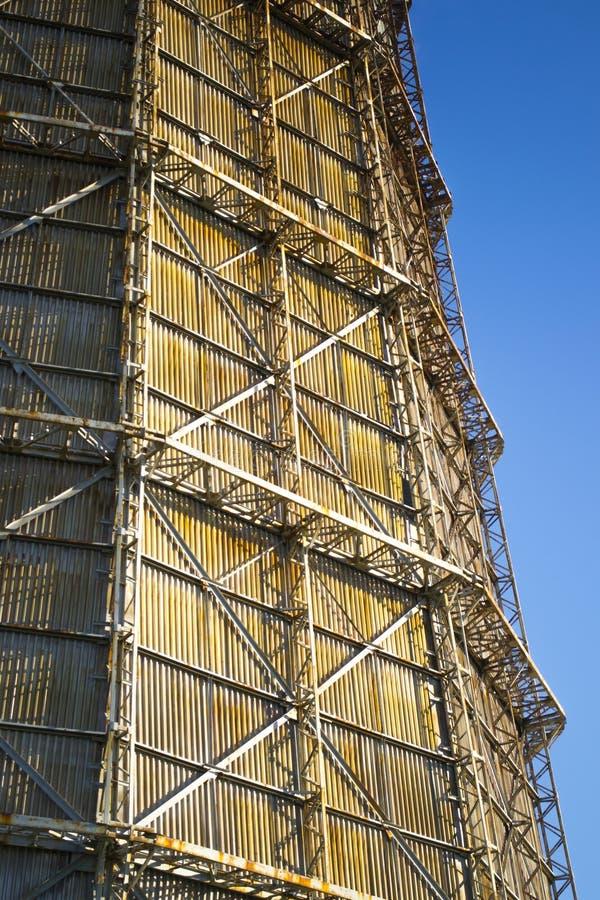 Большая печная труба фабрики шифера стоковое изображение