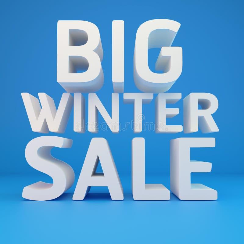 Большая продажа зимы иллюстрация штока