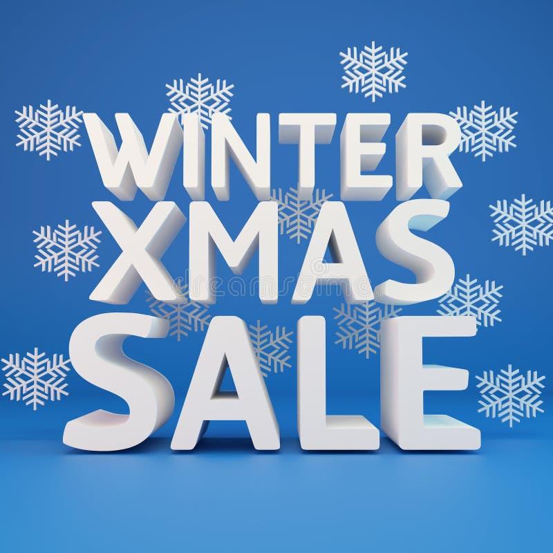 Большая продажа зимы иллюстрация вектора