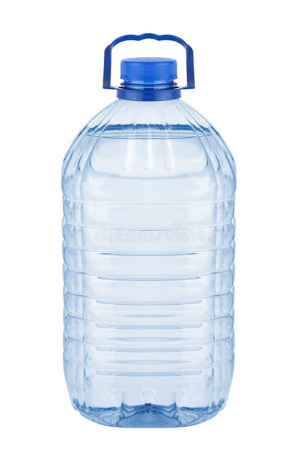 Большая пластичная бутылка с водой стоковые фотографии rf