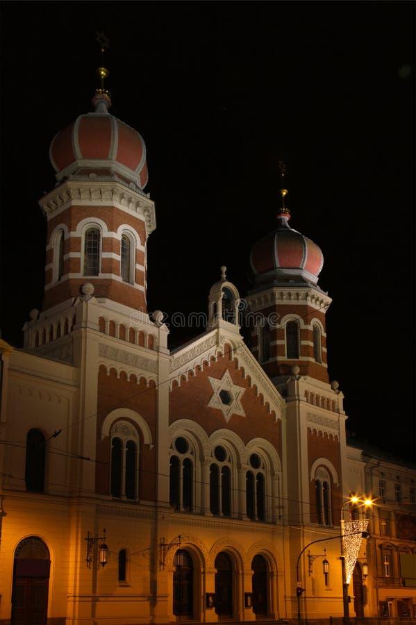 Большая синагога в Pilsen - чехии - Европа стоковое фото