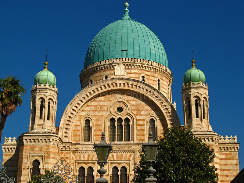большая синагога стоковая фотография rf