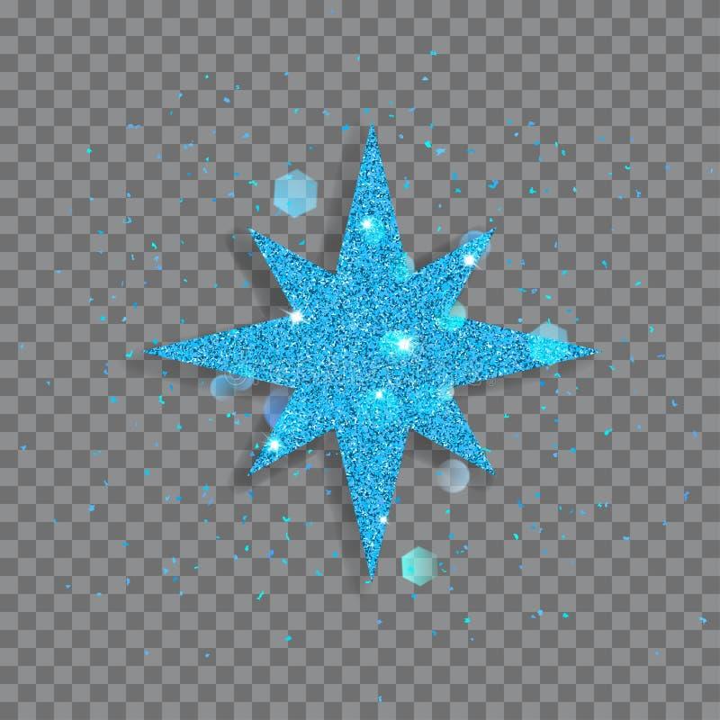 Большая сияющая звезда иллюстрация вектора