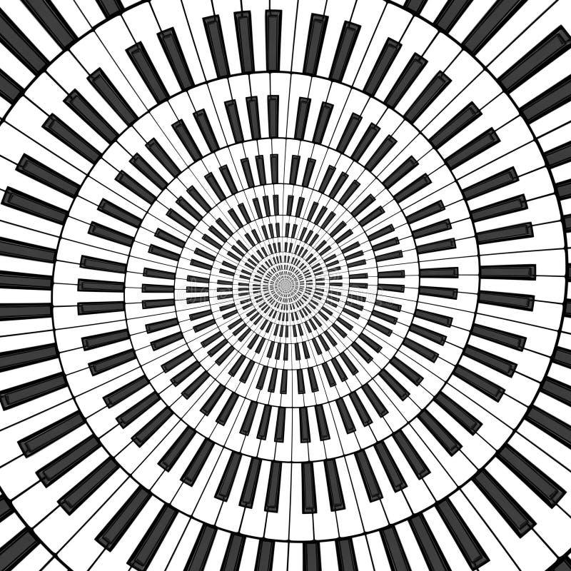 Большая спираль клавиатуры иллюстрация штока