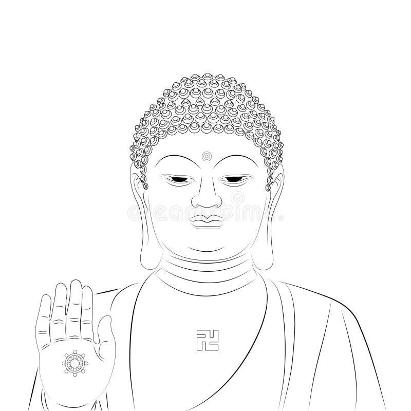 большая статуя Будды стоковые изображения rf