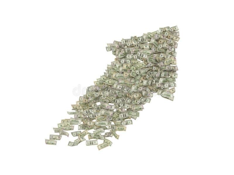 Большая стрелка доллара стоковое изображение rf