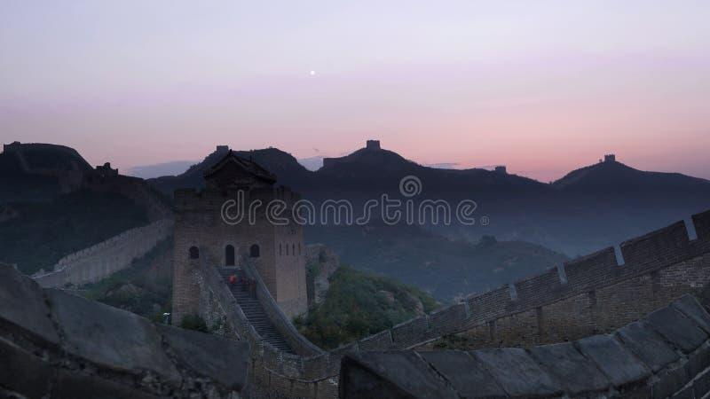 большая jinshanling стена стоковые фотографии rf