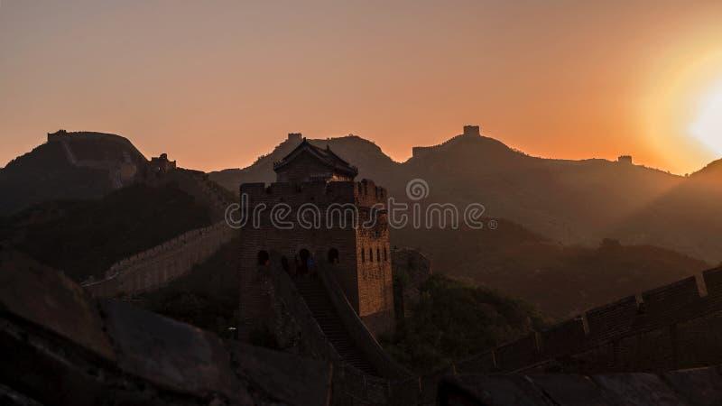 большая jinshanling стена стоковое фото rf