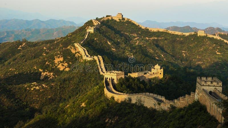 большая jinshanling стена стоковые изображения rf