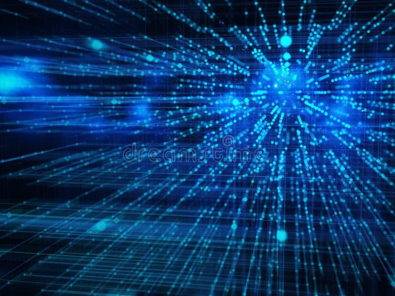 Большие данные и концепция связи интернета иллюстрация штока