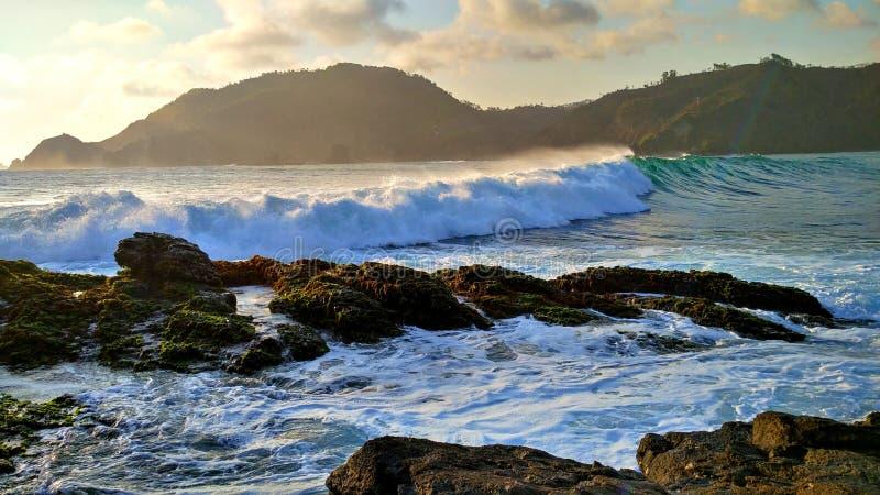 Большие волны сини стоковое изображение rf