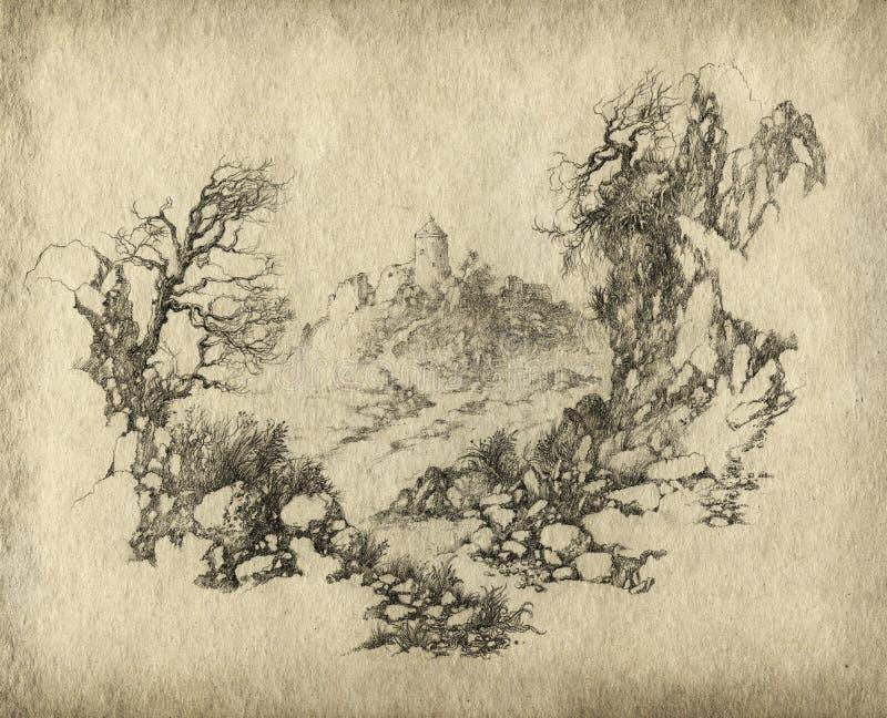 большие горы горы ландшафта иллюстрация штока