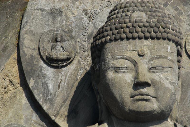 Большие голова и венчик Будды стоковые фотографии rf