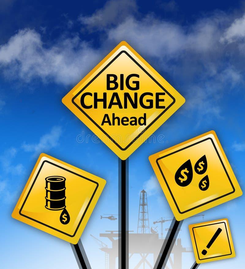 Большие знаки изменений вперед стоковое изображение rf