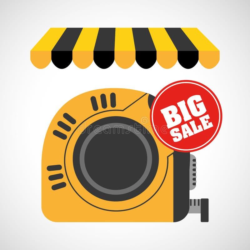 Большие инструменты для продажи иллюстрация вектора