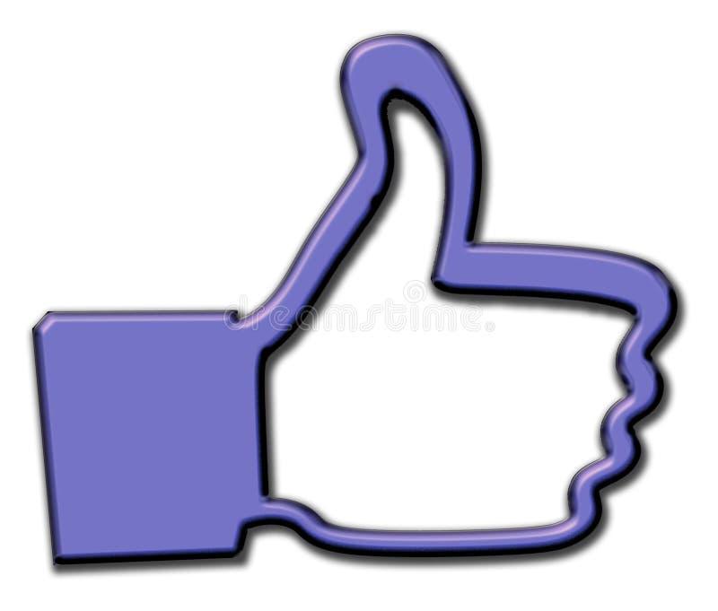 Большие пальцы руки поднимают руку 3D как икона иллюстрация штока