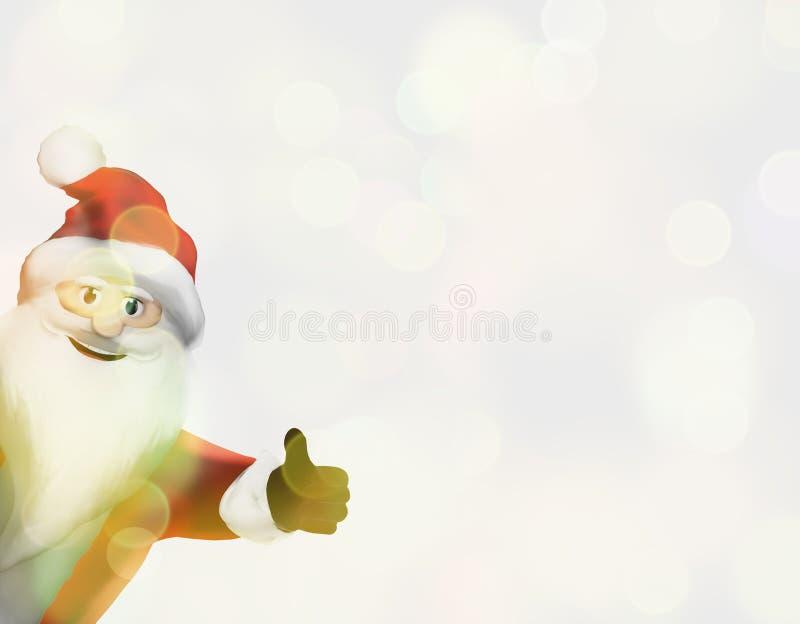 Большие пальцы руки Санта Клауса рождества вверх по праздничному 3d представляют иллюстрация вектора