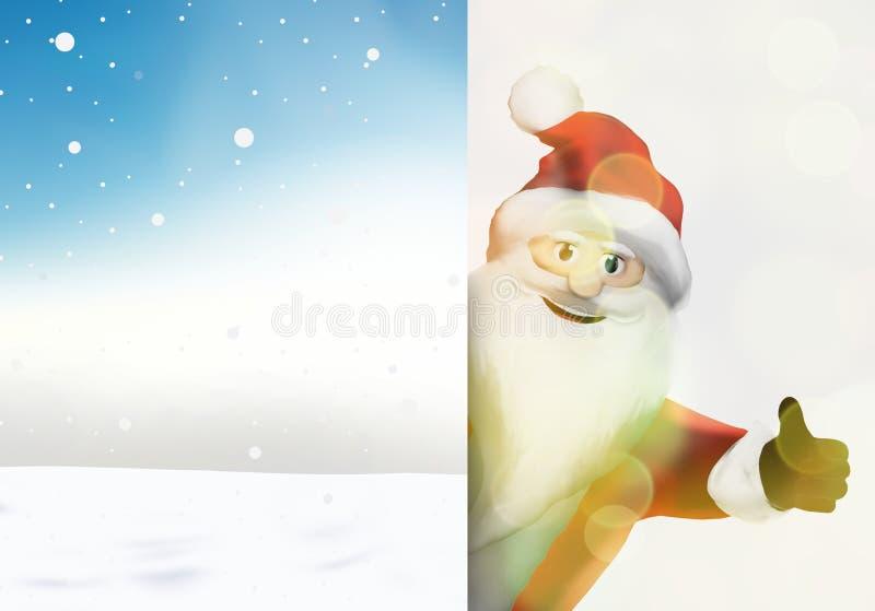 Большие пальцы руки Санта Клауса рождества вверх по праздничному 3d представляют графическое изображение иллюстрация вектора