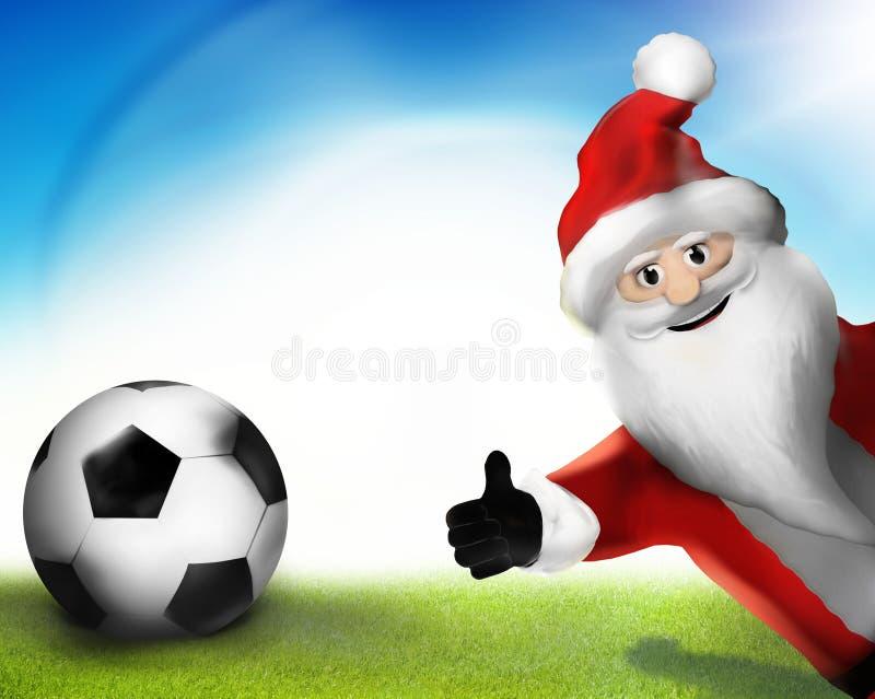 Большие пальцы руки Санта Клауса рождества вверх по 3D представляют шарж бесплатная иллюстрация